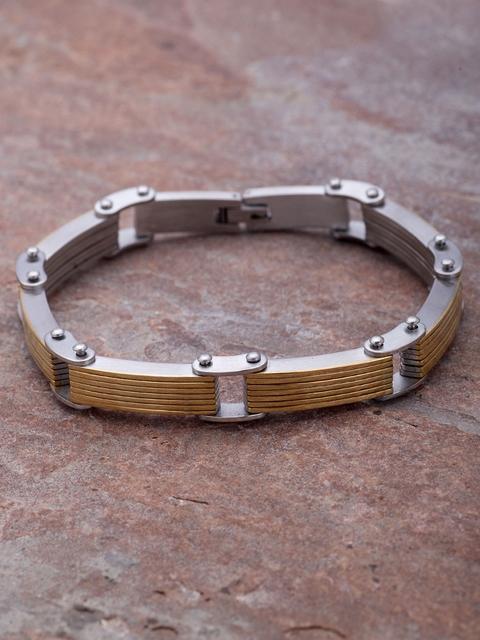 Dare by Voylla Men Silver-Toned Bracelet