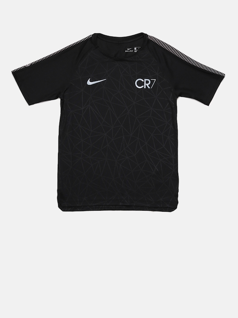 Nike Boys Black CR7 B NK DRY SQD TOP Football T-shirt  available at myntra for Rs.1737