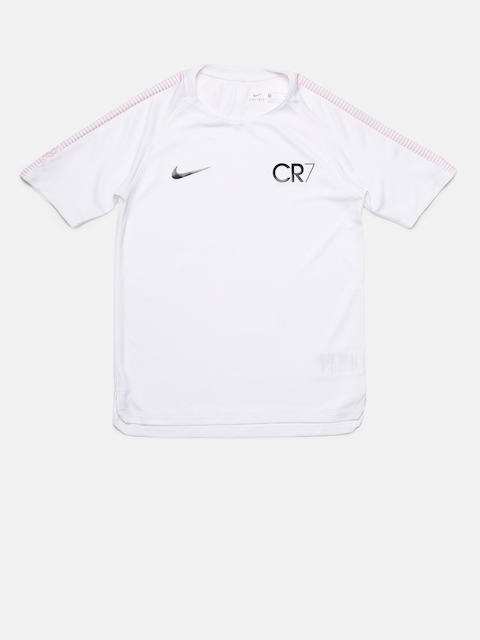 Nike Boys White CR7 B NK DRY SQD TOP Football T-shirt  available at myntra for Rs.1737