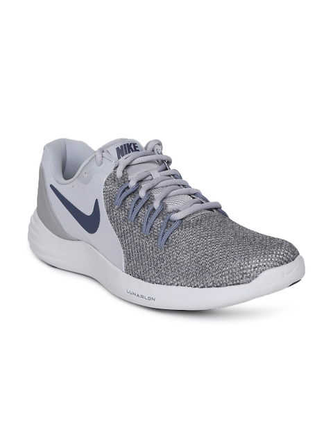 Nike Men Grey Nike Lunar Running Shoes