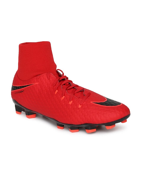 Nike Men Red Synthetic High-Top Hypervenom Phelon 3 Football Shoes