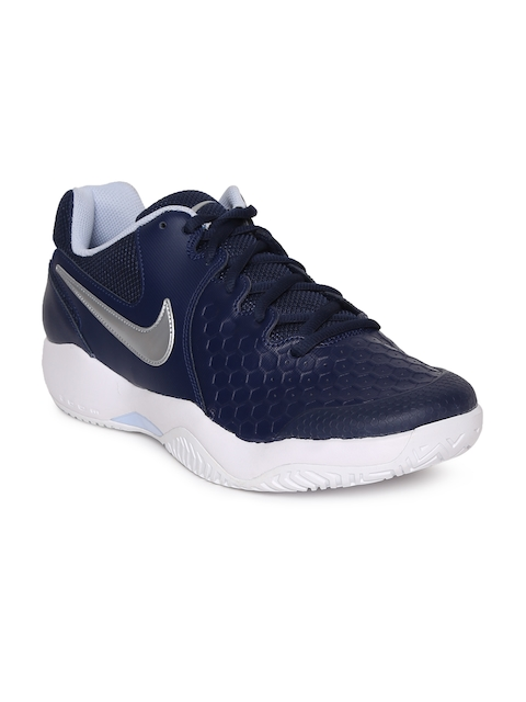 Nike Men Navy Blue AIR ZOOM RESISTANCE Tennis Shoes