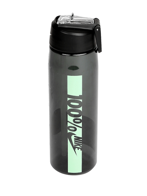Nike Black Core Flow 100 Printed BPA-Free Water Bottle