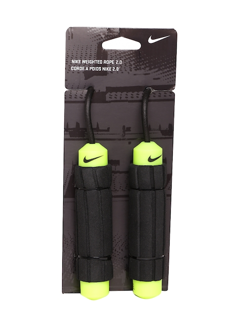 Nike Unisex Black & Fluorescent Green Weighted Rope 2.0