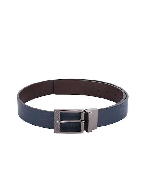 Alvaro Castagnino Men Blue & Brown Textured Leather Belt