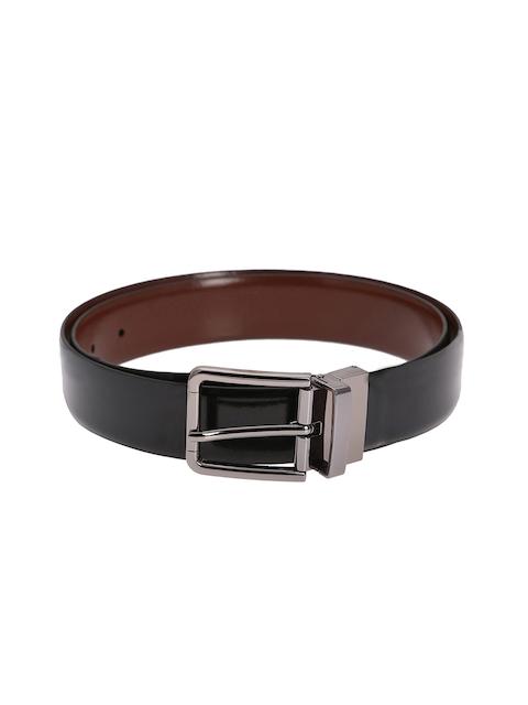 Alvaro Castagnino Men Black & Brown Solid Leather Belt