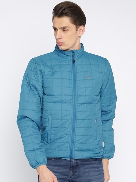 Wildcraft Men Blue Solid Insulator Quilted Jacket
