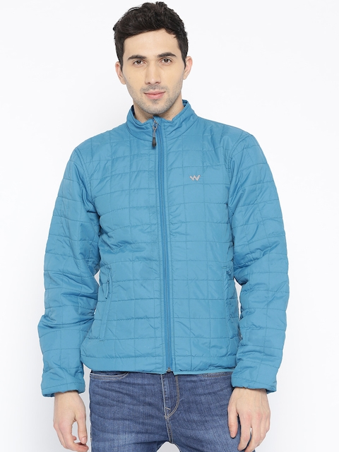 Wildcraft Men Blue Solid Husky P Pack Quilted Jacket