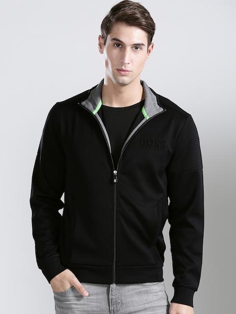 BOSS Green Men Black SKAZ Solid Sweatshirt