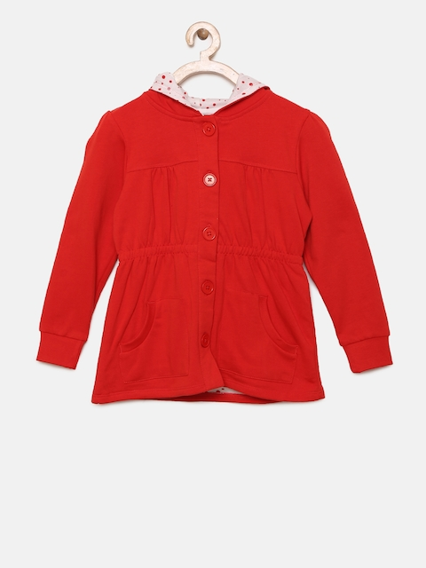 Fame Forever by Lifestyle Girls Red Solid Hooded Sweatshirt