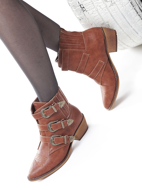 Roadster Women Brown Heeled Boots