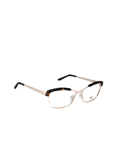 David Blake Unisex Gold-Toned Full Rim Rectangle Frames LCEWDB1306CK6145-C4