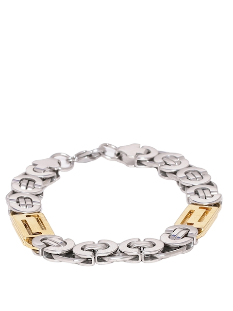 Dare by Voylla Men Silver-Toned Bracelet