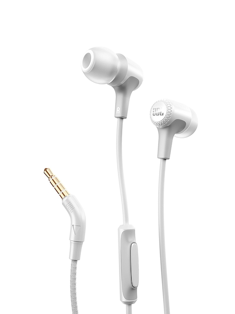 JBL Unisex White Wired In-Ear Headphones E15