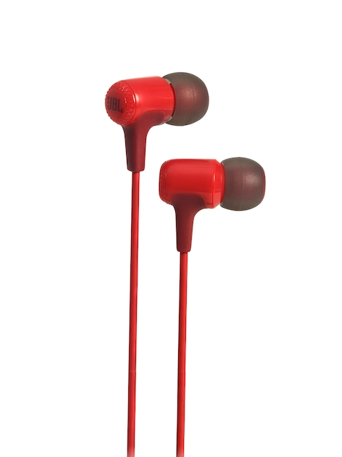 JBL Unisex Red Wired In-Ear Headphones E15