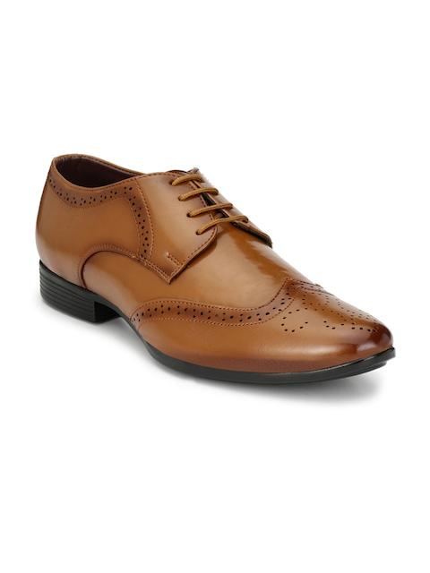 Mactree Men Tan Brown Formal Brogue Shoes
