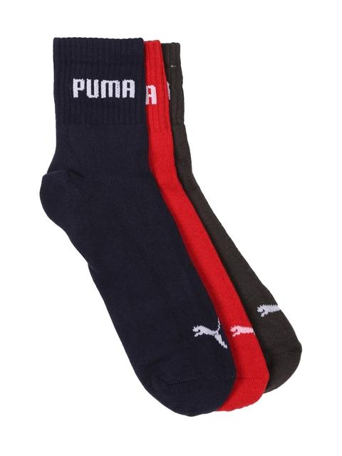 Puma Unisex Pack of 3 Above Ankle-Length Socks