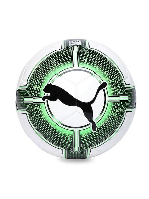Puma Unisex White & Green evoPower 1.3 Futsal Printed Football