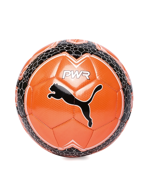 Puma Unisex Orange Printed evoPOWER Vigor Graphic 4 Football