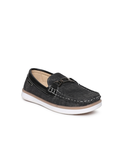 Kittens Boys Black Loafers