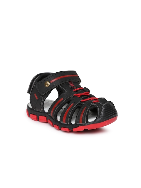 Kittens Boys Black & Red Sandals
