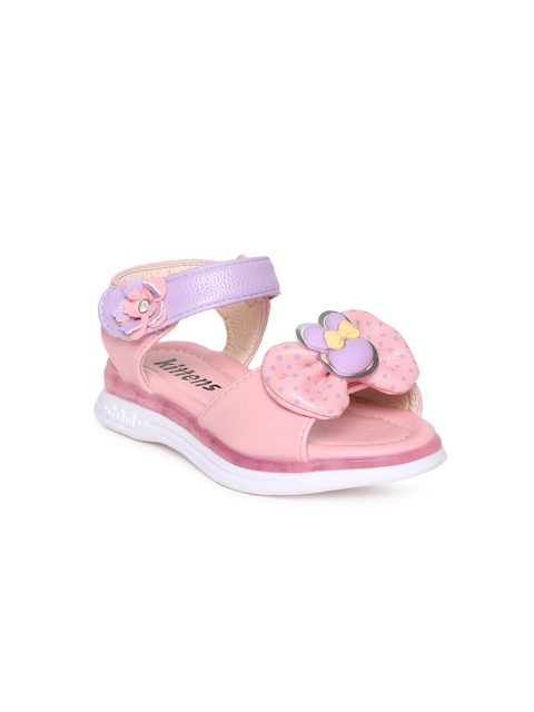 Kittens Girls Pink & Purple Comfort Sandals