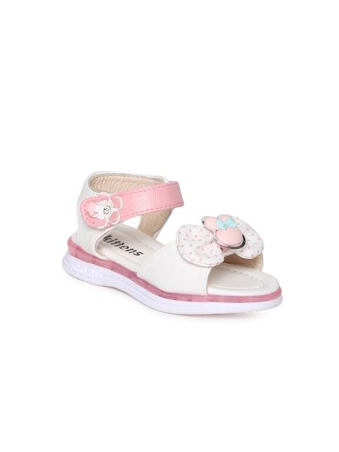 Kittens Girls White & Pink Comfort Sandals
