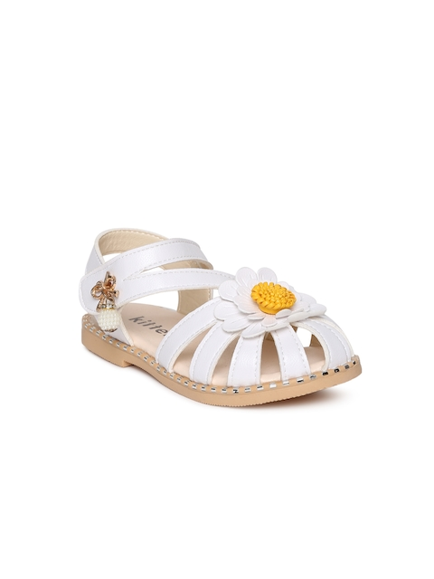 Kittens Girls White Fisherman Sandals