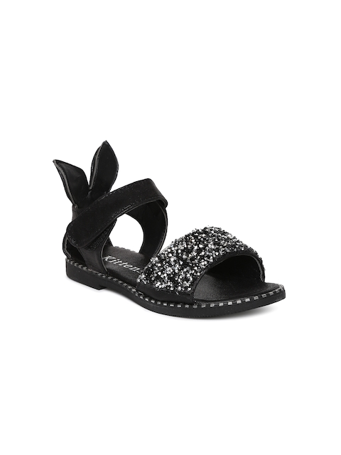 Kittens Girls Black Comfort Sandals