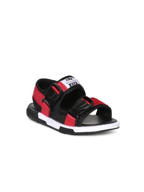 Kittens Boys Red & Black Sandals