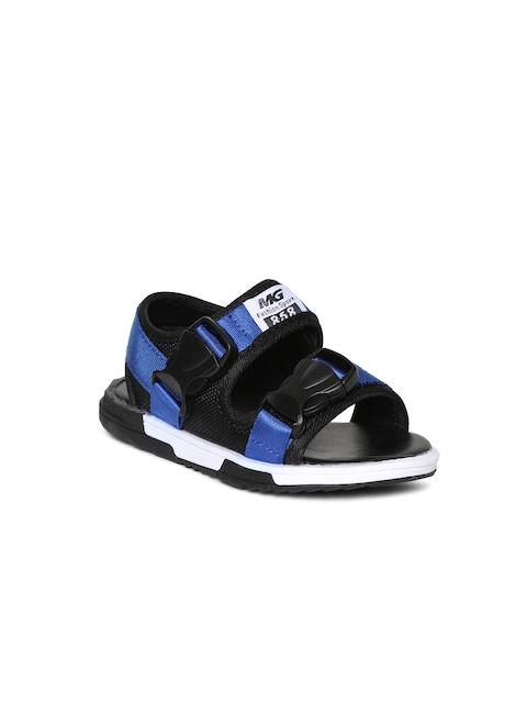 Kittens Boys Black & Blue Sandals