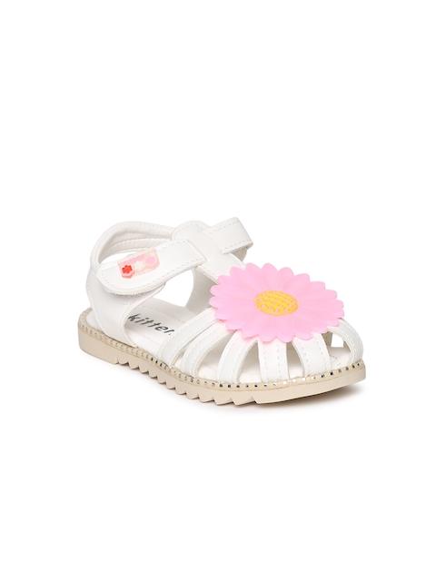 Kittens Girls White Fisherman Sandals