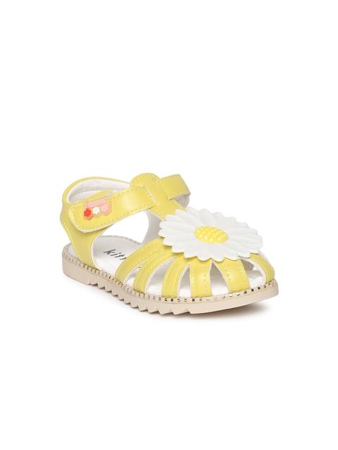 Kittens Girls Yellow Fisherman Sandals