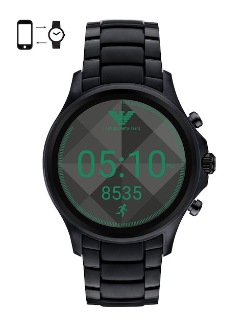 Emporio Armani Men Black Smart Watch ART5000