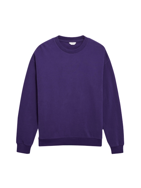 next Men Purple Solid Sweatshirt