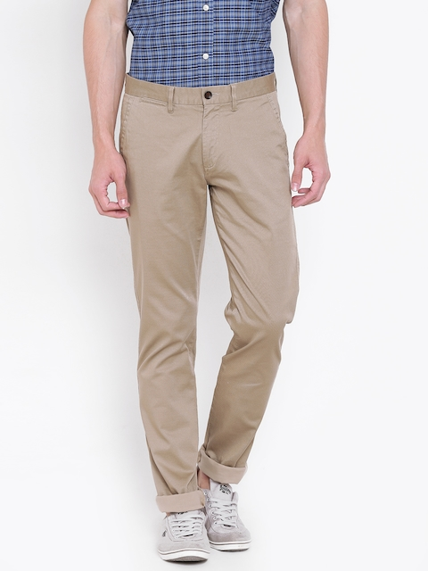 Arrow Sport Men Beige Chrysler Tapered Fit Printed Chinos