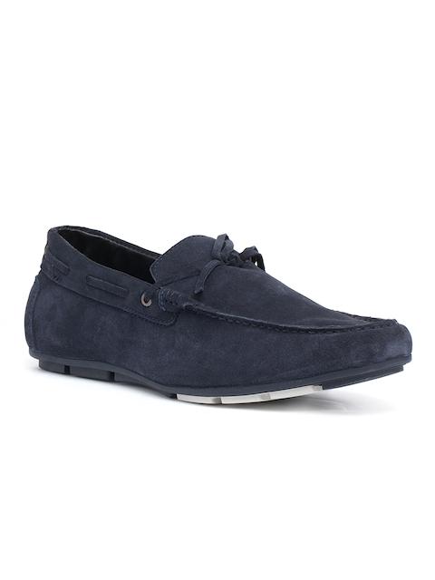 Bata Men Navy Loafers