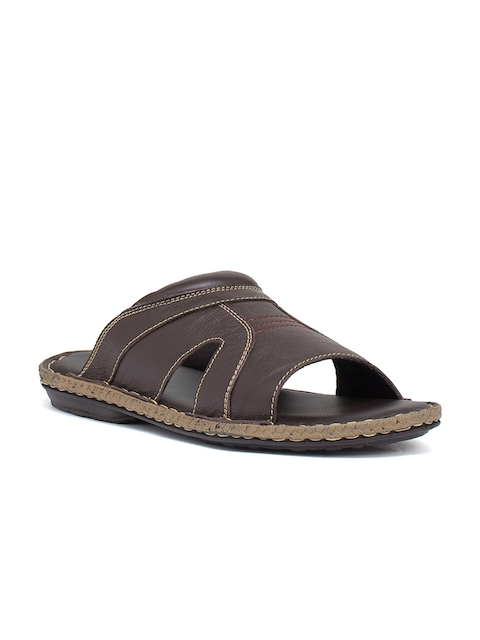 Bata Men Brown Comfort Sandals