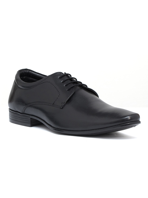 Bata Men Black Leather Derbys