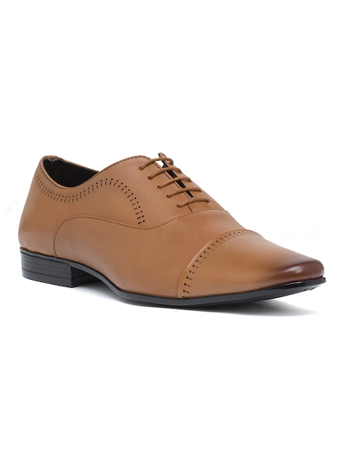 Bata Men Brown Leather Oxfords