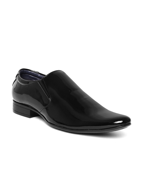 Bata Men Black Patent Leather Formal Slip-Ons