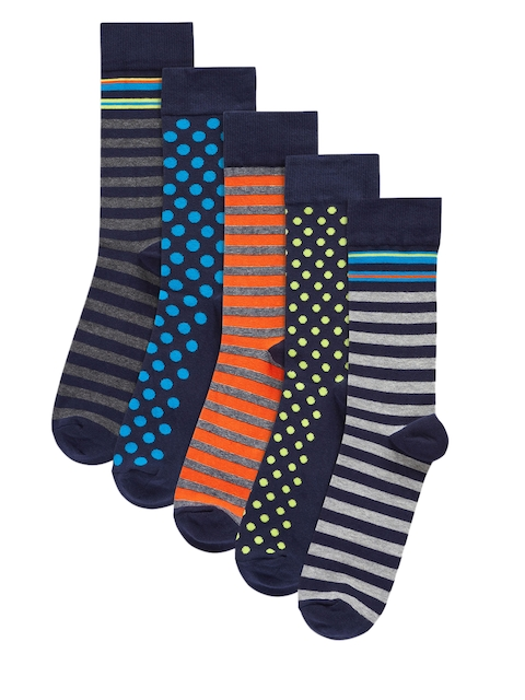 next Men Pack of 5 Patterned Above Ankle-Length Socks