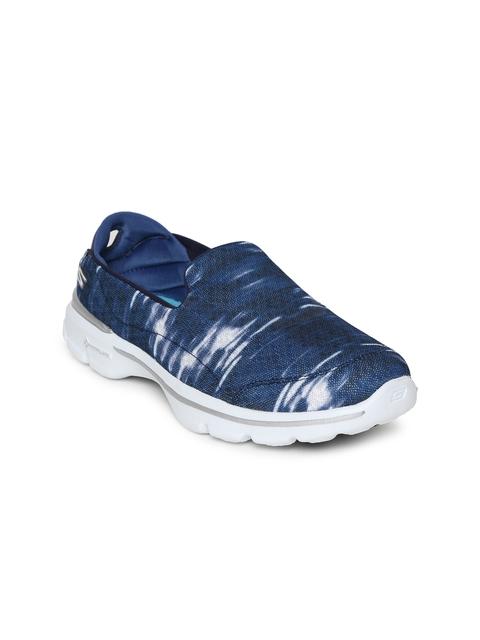 Skechers Women Navy Blue GO WALK 3 - SWELL Walking Shoes