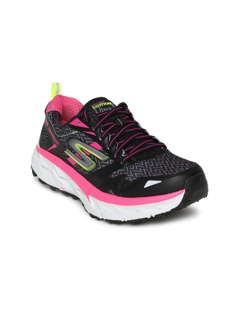 Skechers Women Black GO Trail Ultra 3 Running Shoes