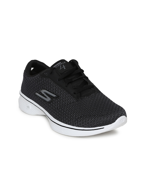 Skechers Women Black GO WALK 4 GLORIFY Walking Shoes