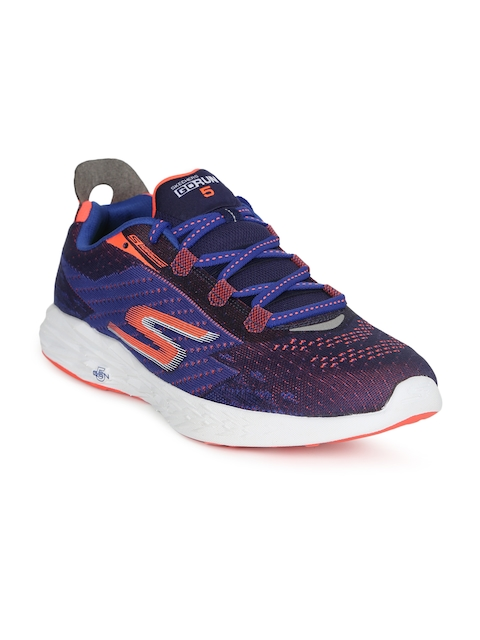Skechers Men Blue GO RUN 5 Running Shoes
