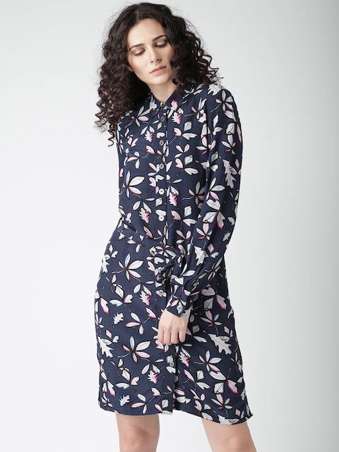 Tommy Hilfiger Women Navy Printed Shirt Dress