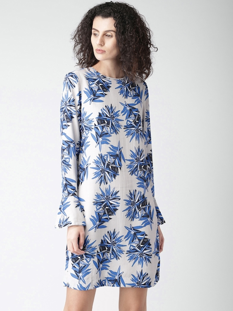 Tommy Hilfiger Women Grey Printed A-Line Dress