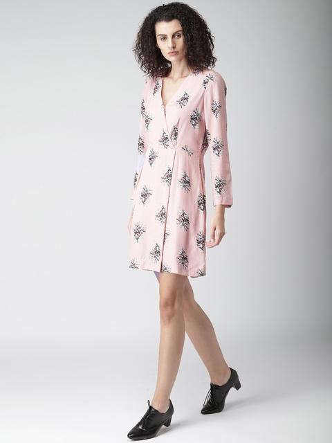Tommy Hilfiger Women Pink Printed Wrap Dress