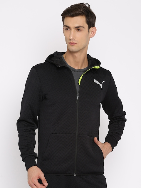 Puma Men Black Solid Sporty VENT FLEECE  Jacket